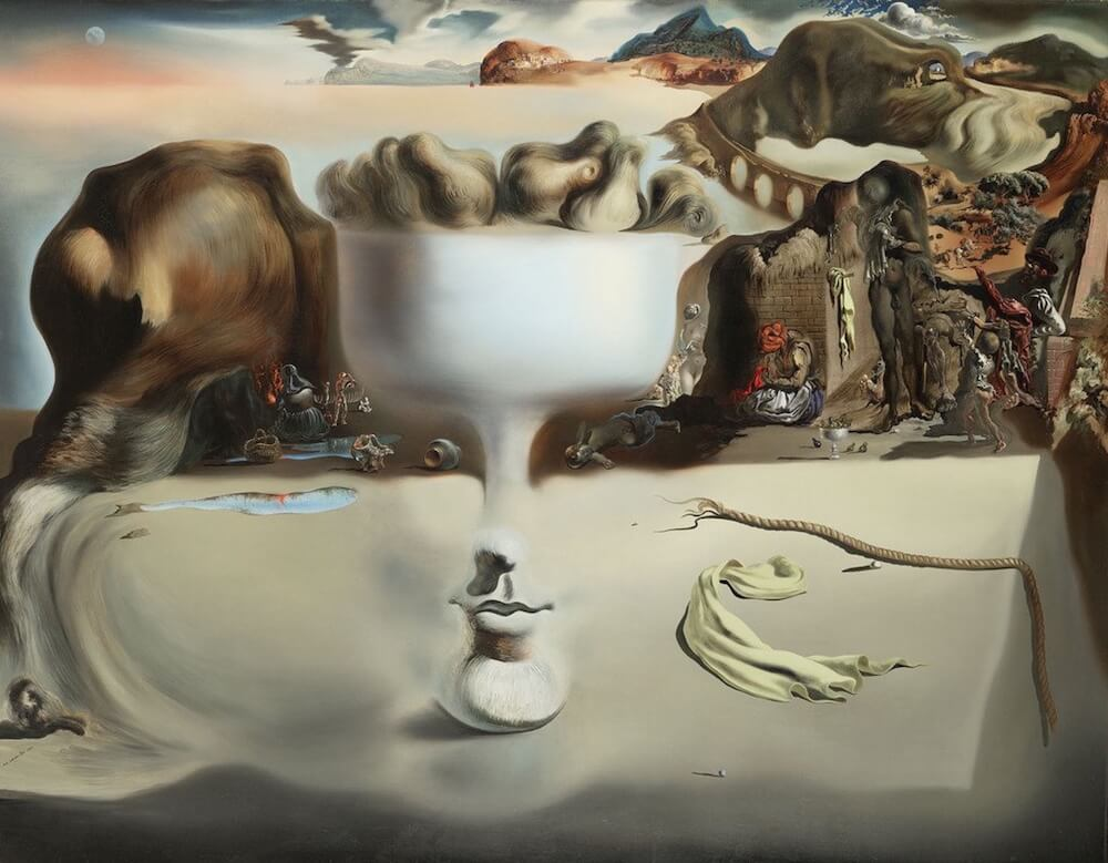 The Apparition of Face and Fruit Dish on a Beach, 1938 by Salvador Dali