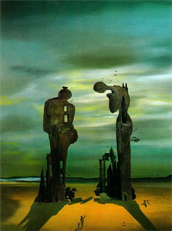 Archeological Reminiscence of Millet's 'Angelus', 1933 by Salvador Dali