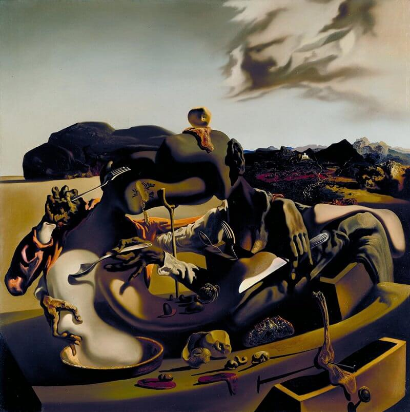Autumnal Cannibalism 1936 by Salvador Dali