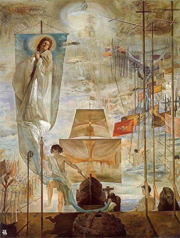 The Discovery of America by Christopher Columbus, 1959 by Salvador Dali