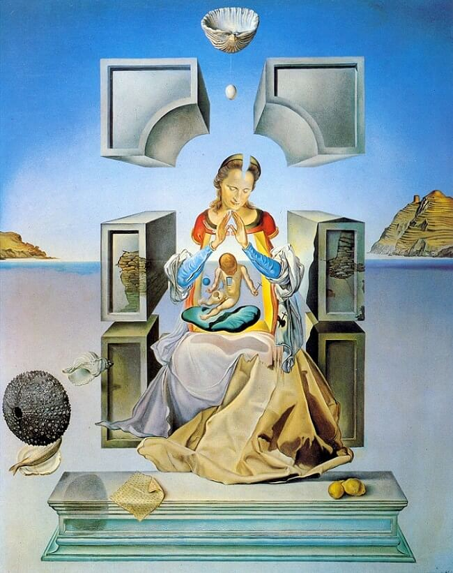 The The First Study for the Madonna of Port Lligat, 1949 by Salvador Dali