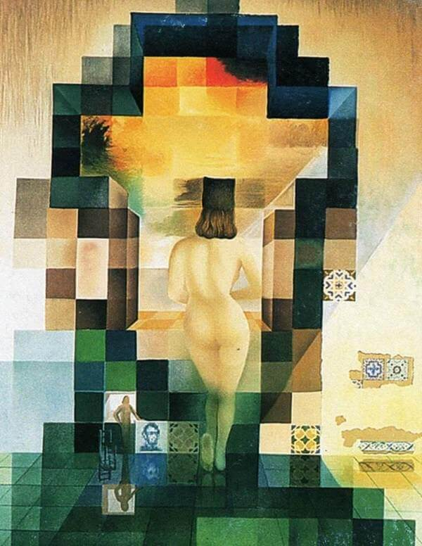 Gala Contemplating the Mediterranean Sea, 1976 by Salvador Dali
