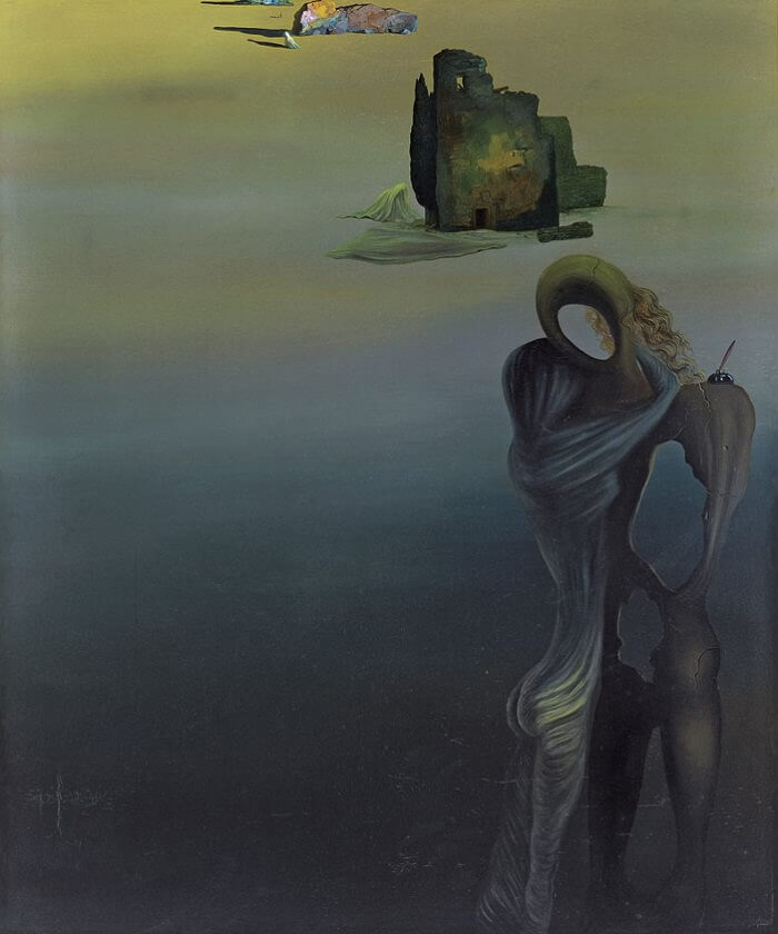 The Gradiva Finds the Anthropomorphic Ruins, 1931 by Salvador Dali
