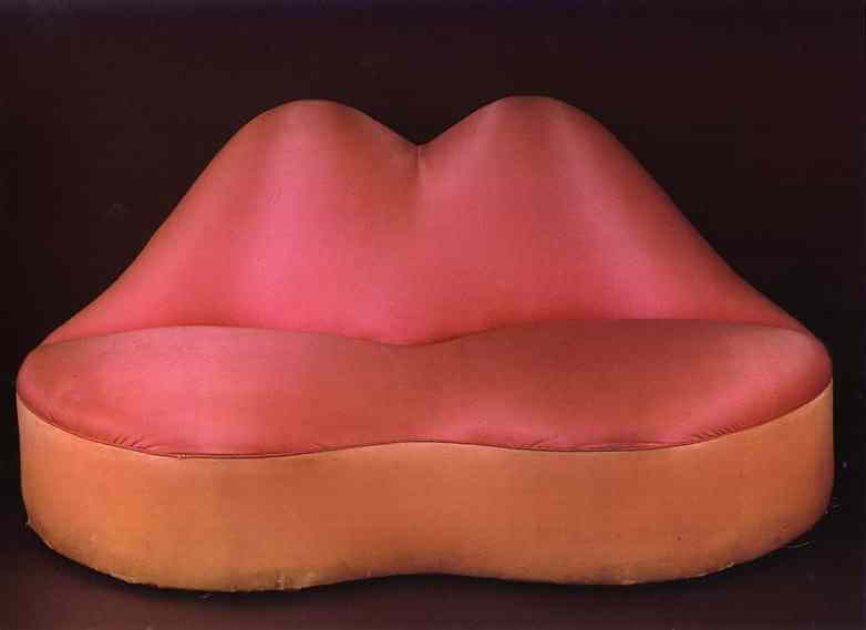 The Mae West's Lips Sofa, 1936 by Salvador Dali