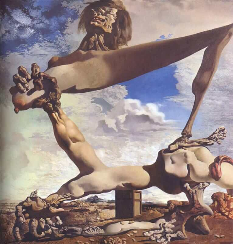 Soft Construction with Boiled Beans, 1936 by Salvador Dali