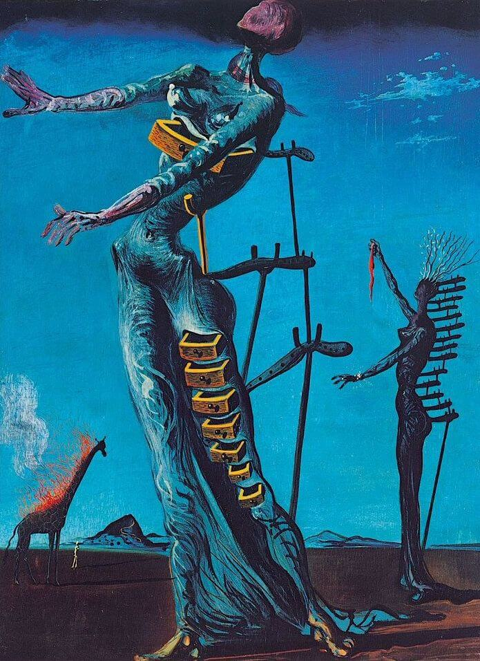 The Burning Giraffe, 1937 by Salvador Dali